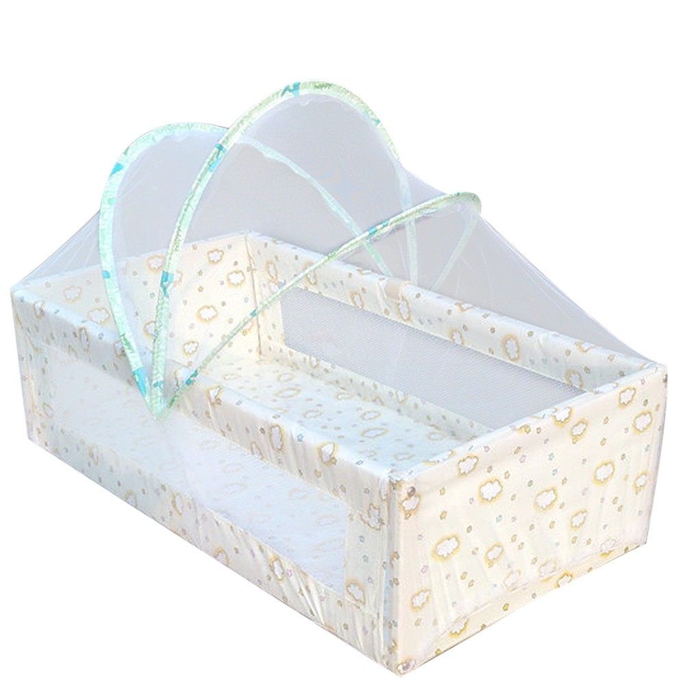 Baby bed camping - Universal Baby Cradle Bed Mosquito Nets Summer Baby Arched Mosquitos Net