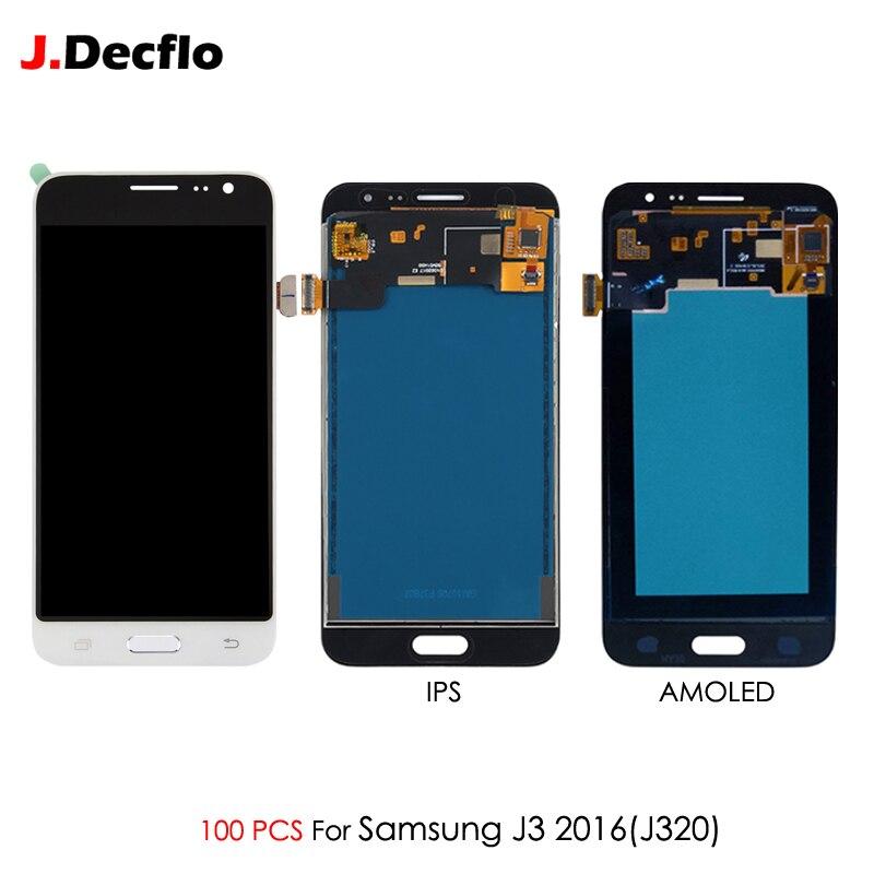 Digitizer Assembly Lcd-Display Touch-Screen Samsung Galaxy J320F 100PCS for J320a/J320f/J320m