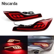 Niscarda 2 шт. для Honda CR-V CRV 2017 2018 светодиодный задний бампер отражатели светло красный вождение автомобиля тормоз туман отделкой литья хвост л