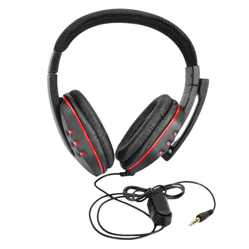 New Luxury Leather Stereo Gaming Headset Earphone With Micphone For PlayStation 4 PS4 PC MAC Game Earphones & Headphones