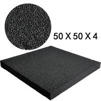 Noir aquarium bio filtration mousse fish tank biochimique filtre éponge pad cultiver bactéries filtre médias 50x50x4 cm