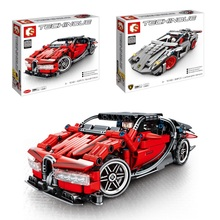 Technic Super Racers Series Champions Compatible Pull Car Blocks Racing Building Models Children Road Toy