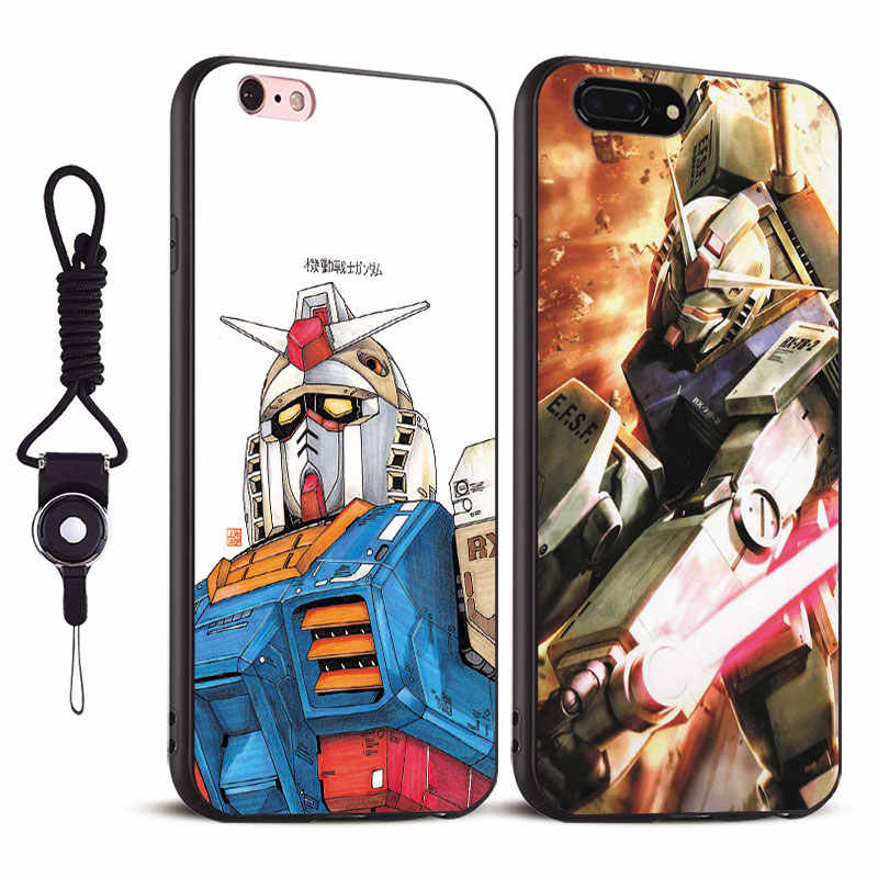 Funda de móvil Gundam anime Coque Tpu silicona suave para Apple iPhone 5 5S Se 6 6s 7 8 Plus X XR XS 11 PRO MAX