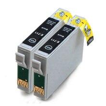 vilaxh 2pcs T0711 compatible Ink Cartridge For Epson Stylus D78 D92 D120 DX4000 SX210 SX215 SX218 SX115 SX400 SX405 SX410 SX415
