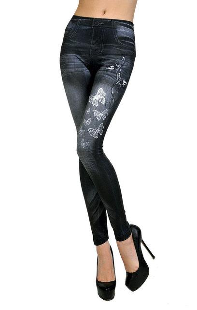 New Leggings Jeans Women Sexy Tattoo Jean