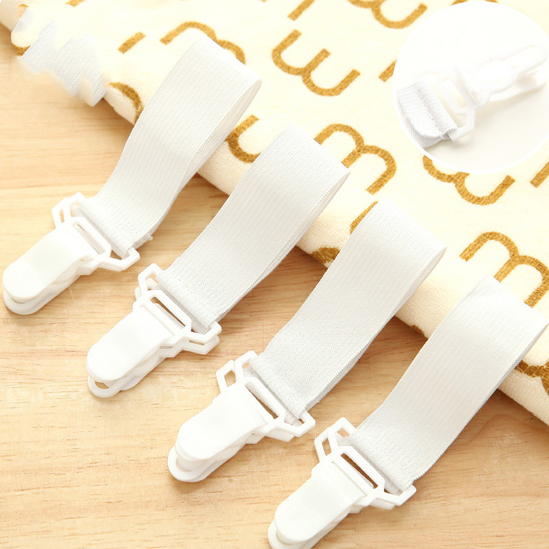 2Pcs/set New Useful Multipurpose Bed Sheet Fasteners Mattress Elastic Holder Clip Grippers Tool Bed Sheet Furniture Decor