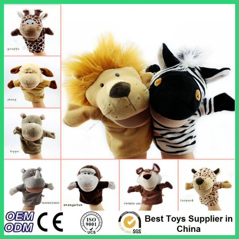 Kawaii Baby Animal Hand Puppets <font><b>Lovely</b></font> Hand Puppet Toys Animals <font><b>Tiger</b></font> Monkey Lion Dog Cute Dolls <font><b>Learning</b></font> Aid Toys For Kids