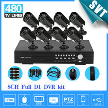 NVR Home 8ch Security Outdoor waterproof day Night Camera,8 channel cctv DVR recorder video surveillance System kit,HDMI SNV-33