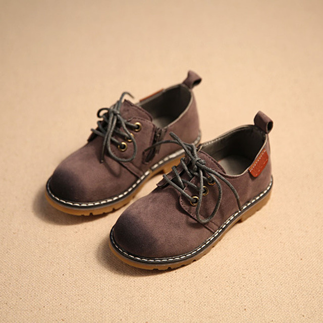 2017 British Style Toddlers Boys Leather Shoes Lace Up Kids Oxfords Toddler Girls Dress Shoes  Size 8-11