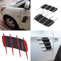 High Quality Car Shark Gills Outlet Stickers Simulation Vent Side Air Intake Outlet Decorative Car Styling