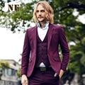 Предварительно Продажа Бренд Мужской Clothing2016men формальные свадебное костюм куртки sli fit темно-красный пиджак костюмы деловой костюм куртка-пальто