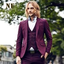 Pre Sale Brand Men Clothing2016men formal wedding suit jackets sli fit dark red suit coat costumes business suit jacket-coats