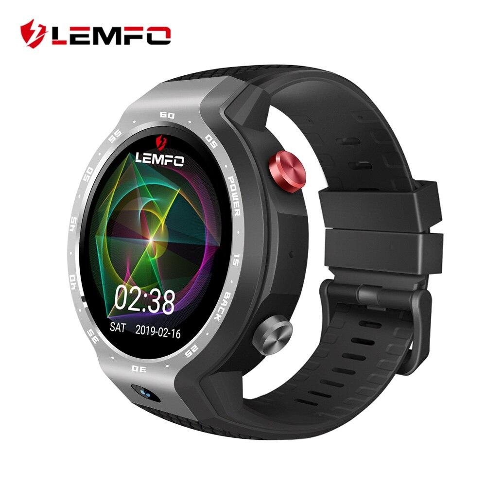 LEMFO LEM9 2019 nouveauté 4G GPS montre intelligente Android 7.1 et Bracelet Fitness double systèmes 5MP caméra frontale 5 jours en veille