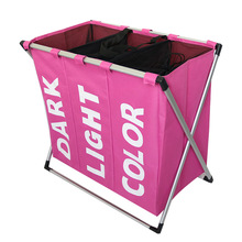 Waterproof laundry basket Separated Oxford hamper toilettas hamper 3 grids Environmentally Fordable Oxford Storage laundry bag