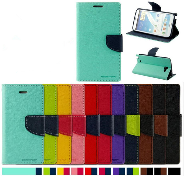 Original Goospery FANCY DIARY Flip cartera cubierta de cuero para Iphone 6 7 8 plus x XR Xs Max Samsung S8 nota 8 S9 S9 más S10 S10e