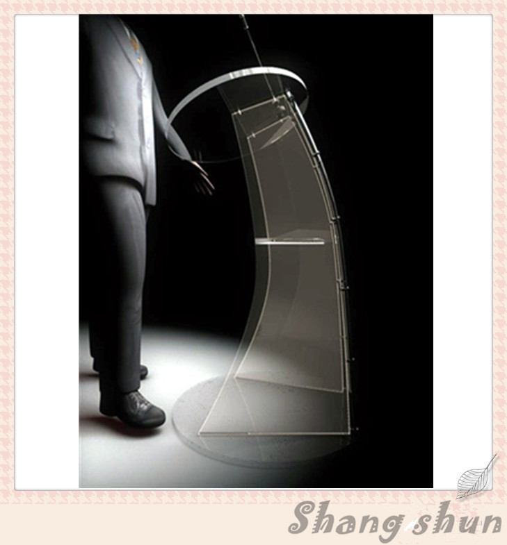 Floor Standing Acrylic Speech Lectern Acrylic Modern Design Podium Pulpit practical modern design acrylic podium conference lectern podium