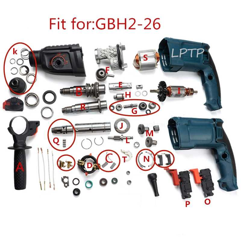 Rubber Repair Electric Drill Parts For Bosch GBH2-24//GBH2-26 Rotary Hammer