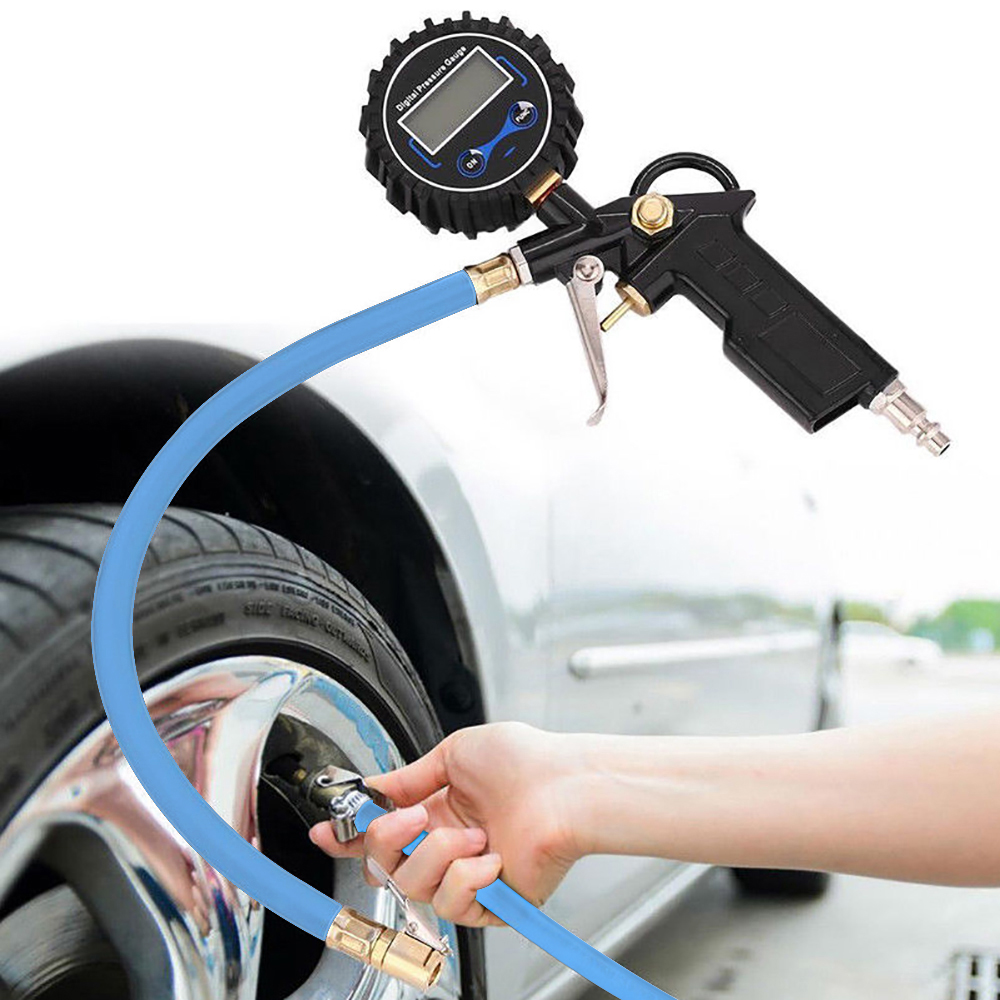 New Digital Car Truck Vehicle Air Tire Pressure Inflator Gauge LCD Dial Meter Test Car Tire Pressure Gauge Meter High Quality in Tire Pressure Monitor Systems from Automobiles Motorcycles