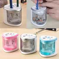 Automatic Pencil Sharpener Two-hole Electric Touch Switch Pencil Sharpeners Pen Knife Student School Supplies Office