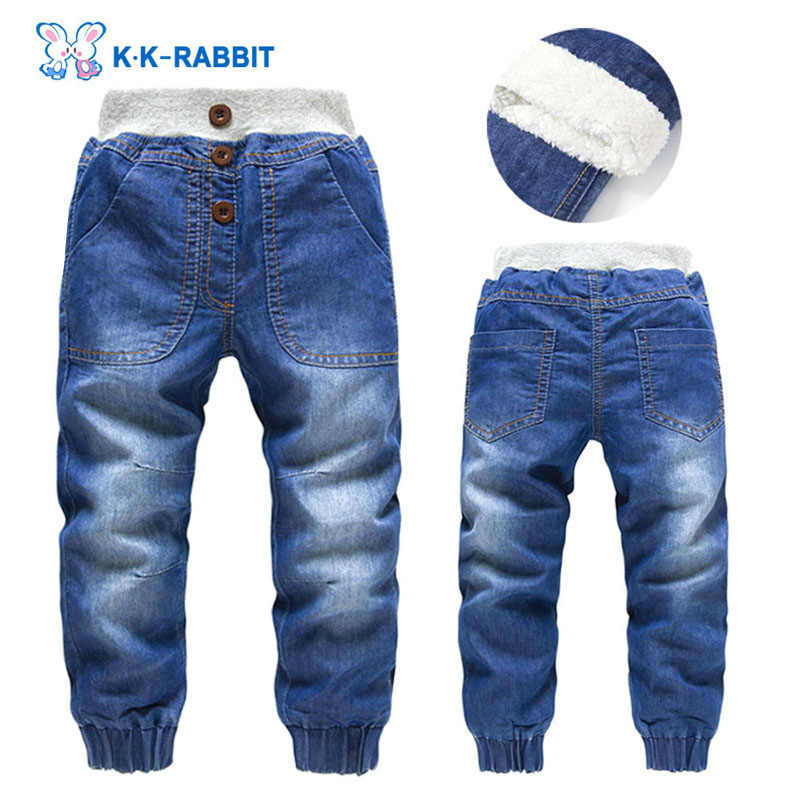Pantalones Gruesos De Invierno De Alta Calidad Modernos Para Ninos Y Ninas Children Jeans Pants Children Jeanschild Pants Jeans Aliexpress