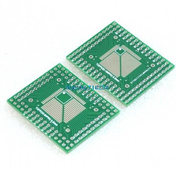 5Pcs FQFP TQFP 32 44 64 80 100 LQFP to DIP Transfer Board DIP Pin Board Pitch Adapter5Pcs FQFP TQFP 32 44 64 80 100 LQFP to DIP Transfer Board DIP Pin Board Pitch Adapter