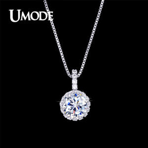 UMODE Fashion Top CZ Zirconia Pendant Necklace for Women Wholesale Jewelry Bijoux Female Collares Largos de Moda AUN0060