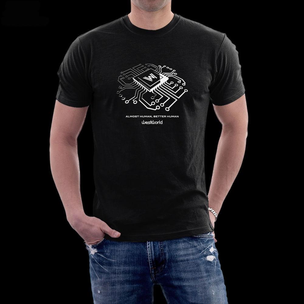 Shirts human design - Westworld Original Design Almost Human Men Unisex 100 Ring Spun T Shirt China