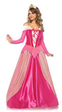 Pink Long Sleeve Aurora Sleeping Beauty Princess Dresses Halloween Cosplay Sleeping Beauty Princess Aurora plays Costume(China)