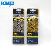 KMC X9L Bicycle Chain 116L 9 Speed Bicycle Chain With Original box and Magic Button for MTB Mountain/Road Bike Parts gold/silver