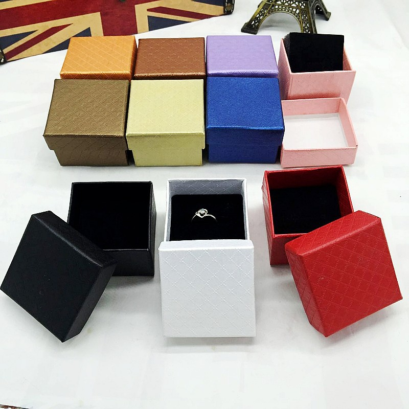 High-grade  exquisite paper ring box jewelry boxes 100pcslot mixed colors