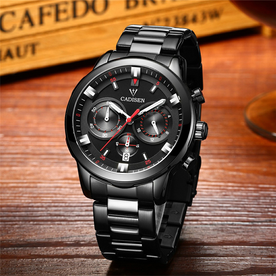 cadisen top new mens watches top brand luxury complete