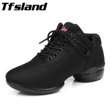 Tfsland New Women Soft Breathable Square Dance Shoes Quality Girls Salsa Ballroom Jazz Dance Shoes Female Dancing Sneakers Gift