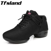 Tfsland New Women Soft Breathable Square Dance font b Shoes b font Quality Girls font b