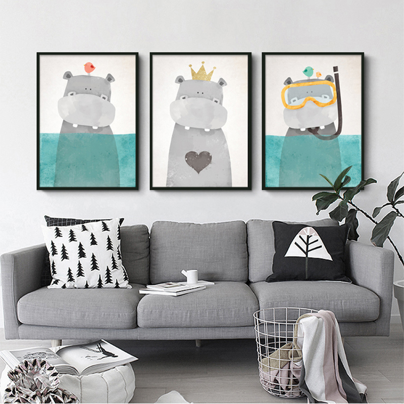 Buy Nordic Decoration Cuadros Posters And Prints Kids Room Canvas Painting