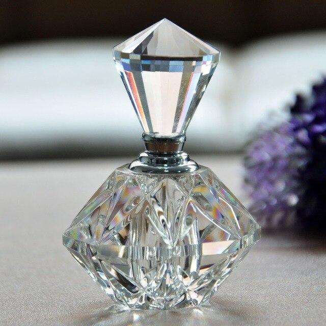 2016 Новых Горячих Женщин Мини Cut Crystal Прозрачный Флакон Стеклянная Бутылка Многоразового Подарок Пустые Многоразового Флакон Духов
