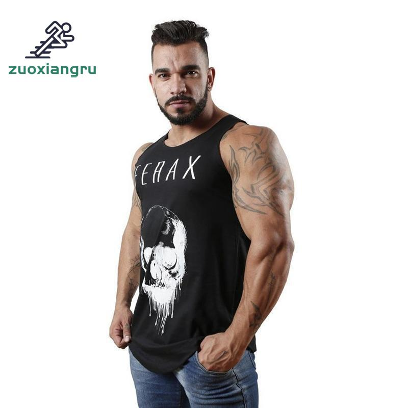 Zuoxiangru Running Vest Sports Fitness Vest Male Fitness Running Sleeveless T-shirt Breathable Slim Fitness Clothing Gym Men