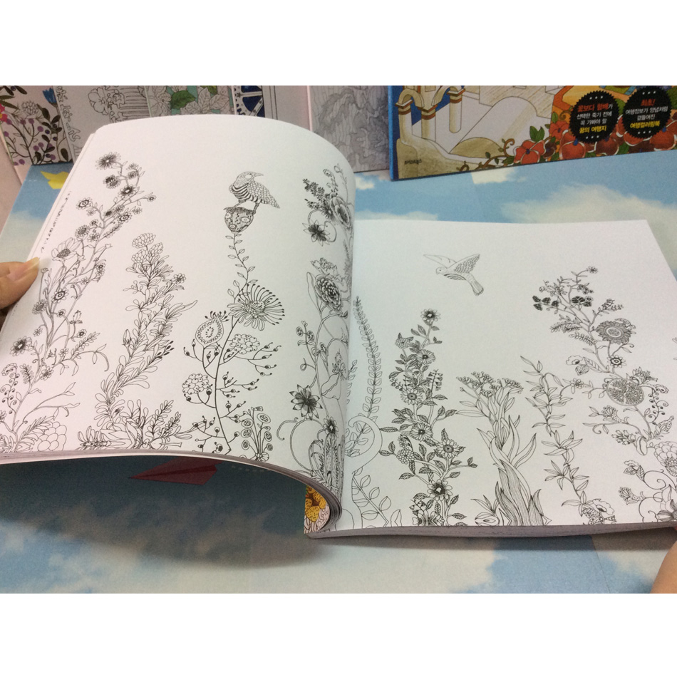 Image 3 - 82 Pages Dream Adults Coloring Books Graffiti Painting Drawing Secret Garden Colouring Book For Adults Children-in Books from Office & School Supplies