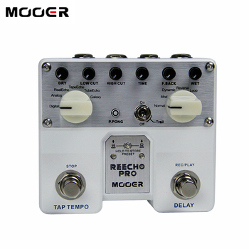 NEW MOOER Reecho Pro Digital reverb pedal/guitar pedal Combination of sound effects