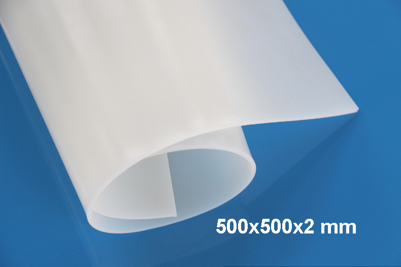 500X500X2mm, High Quality Translucent/milky white Silicone Rubber Sheet, For heat Resist Cushion,100% Virgin Silikon Rubber Pad 1meter food grade medical braided rubber hose reinforced silicone rubber tube high temp resist rubber steam pressure pipe