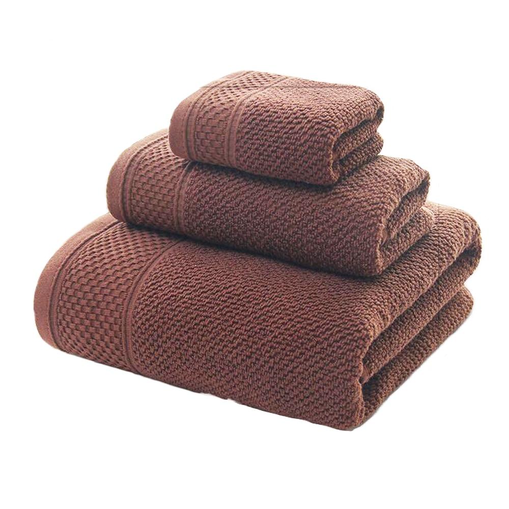 Набор полотенец (полотенце для ванной + полотенце для мытья + полотенце для рук) 100% хлопковая махровая ткань 3 шт./компл. полотенце для ванной полотенце для рук cerchief подарочные комплекты полотенец