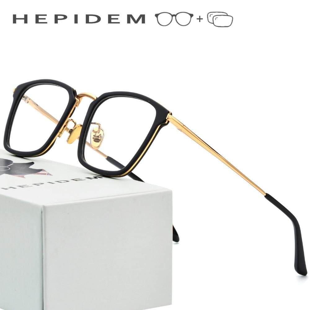 c7f7912d288 Gmei Optical Men Square Ultralight Titanium Alloy Glasses Frame Polarized  Magnetic Clip on Sunglasses Women Optical