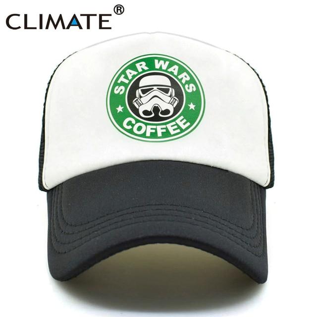 5594a1d2707a1 CLIMATE Star Funny Wars Cap Men Women Jedi Fans Cool Trucker Caps Star  Coffee Wars Summer Caps Baseball Mesh Net Trucker Cap Hat