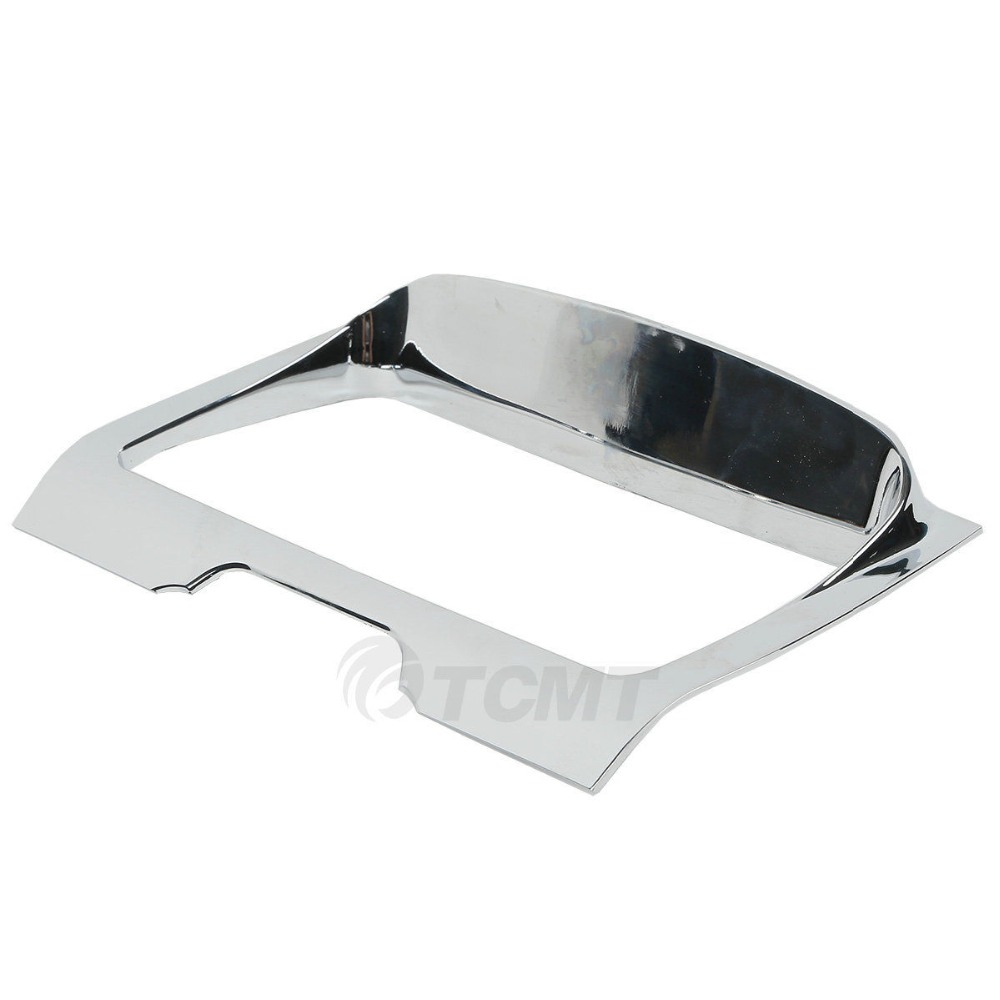 TCMT Chrome Deluxe Tri Line Stereo Trim Cover For Harley Touring FLH/T Electra Street Glides 2014-2018