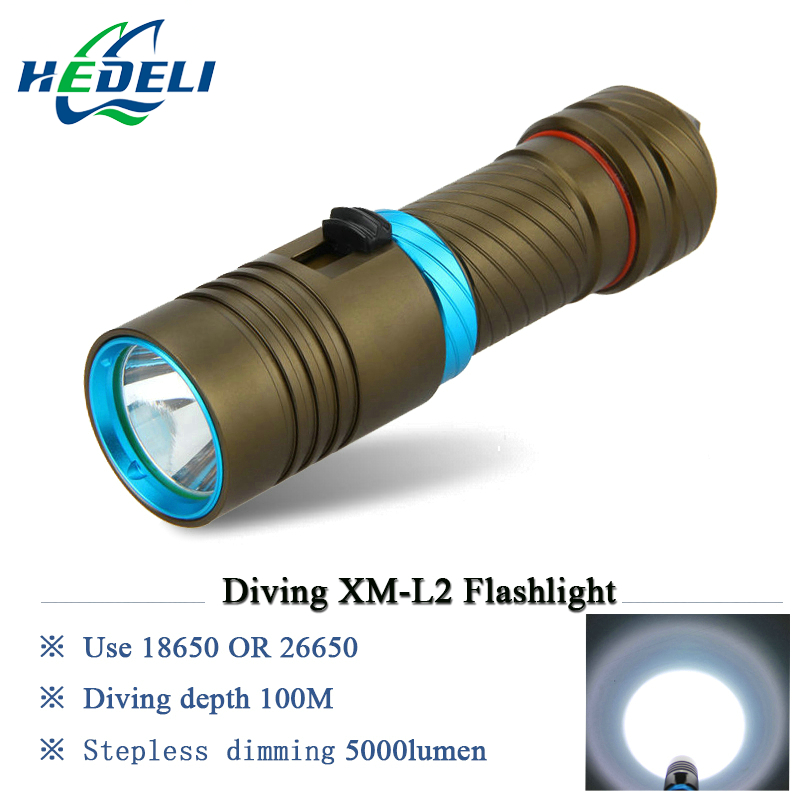 100M LED Diving Flashlight Diver Torch scuba flashlights underwater light 3200lumen CREE XM L2 Lamp rechargeable waterproof 100m cree xm l2 scuba flashlights led xml diving flashlight underwater torch light diver 18650 or 26650 rechargeable batteries