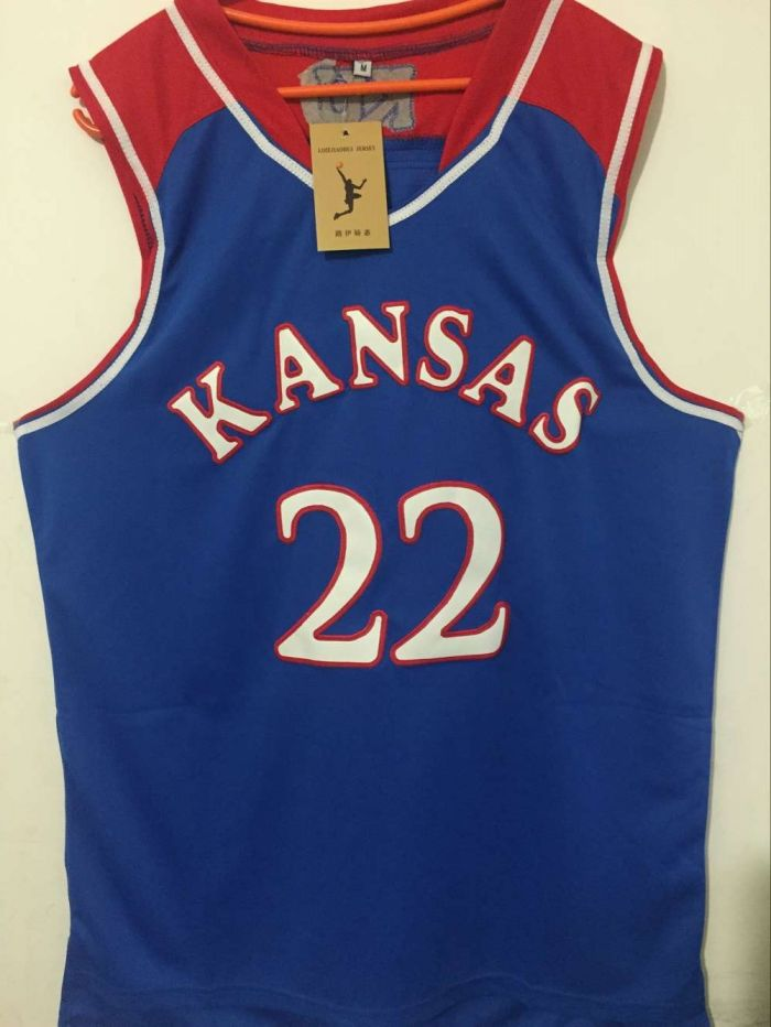 48a7af75784c ... college basketball jerseys basketball jersey movie kansas jayhawks 22  andrew wiggins jerseys mens ...