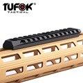 TuFok Tactical M-lok Пикатинни секция 13 Mlok Слоты расширение Вивер рейку адаптер крепление с поворотным гнездом