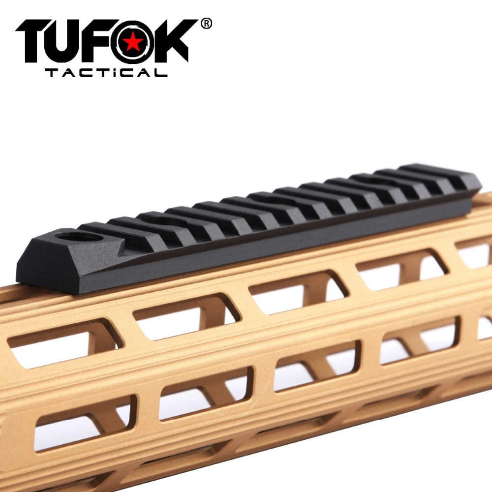 TuFok Tactical M lok Picatinny Rail Section 13 Mlok Slots Extend Weaver Rail Adapter Mount with Swivel Socket|Scope Mounts & Accessories| |  - title=