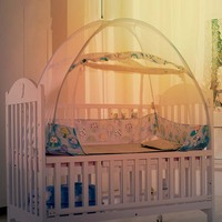 Baby Bedding Crib Netting Folding Baby Mosquito Nets Bed Mattress with Foldable Bracket