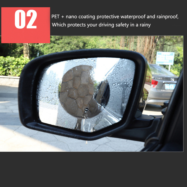 2 шт автомобиля зеркало окно совсем прозрачную пленку затемняемые
