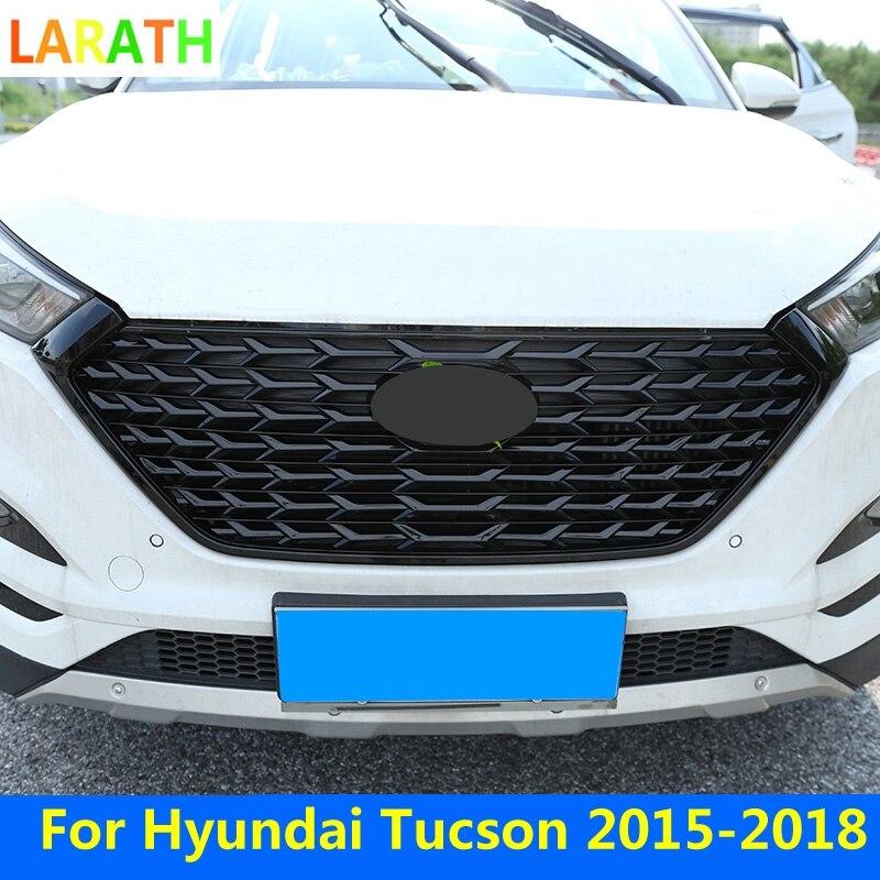 Для Hyundai Tucson 2015-2018 FUSION гонки на переднюю решетку авто маска крышка бампера подходит для FUSION MONDEO черный серебристый стайлинга автомобилей
